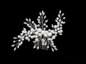 Bride Comb Headpieces Wedding Combs with Crystal for Vintage Bridal Hair Pearl