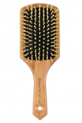 Natural Wooden Massage Hair Brush,Cushion,Wood Bristle.Large Square Paddle Brush