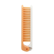 Kinepin Foldable Pocket Travel Use Fine Tooth Comb Hair Brush Combs Orange White