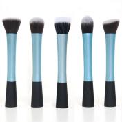 WerFamily Professional Cosmetic Makeup Tool Eyeshadow Powder Blush Foundation Brush Set/ 5pcs
