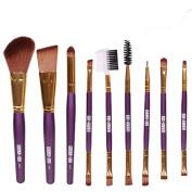 9Pcs Cosmetic Brushes Blush Lip Makeup Eyebrow Eyeliner Brush Set Tool