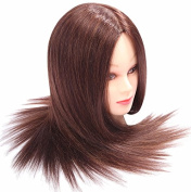 60cm Hairdressing 95% Professional Real Hair Training Cosmetology Mannequin Head W/clamp for College Salon and Professional Use
