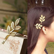 10PCS Europe and the United States hair jewellery Hair Clips Athena olive branch leaves barrettes bobby pin hairpins hair ornaments Hair Accessories beautiful bride headwear edge clip clamps