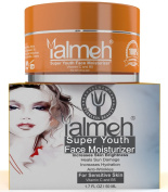YALMEH Super Youth Vitamin C Face Moisturiser-Day/Night Moisturiser For Sensitive Skin, A Luxury Anti Ageing Treatment Formula With Organic Vitamin C, B5, Matrixyl 3000, MSM,CoQ10, Aloe Vera, Rosehip Oil, Beeswax & Jojoba Oil, For Men and Women, Hydrat ..