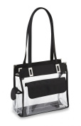 Clear Handbag with Front Pocket - 30cm Wide