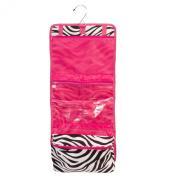 Zebra Hot Pink Makeup Cosmetic Bag Case Large