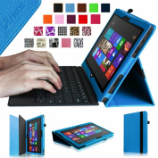 Fintie Folio Case for Microsoft Surface RT / Surface 2 27cm Tablet Slim Fit with Stylus Holder (Does Not Fit Windows 8 Pro Version) - Blue