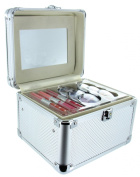 Guylond Carry All Trunk Train Case with Makeup and Reusable Aluminium Case