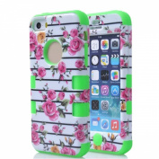 SudmanD® High Quality Peony Protective Shell/Case for Apple iPhone 5C, Super PC and Silicone 2 in 1 Carrying Case for Apple iPhone 5C. Quakeproof and Drop Resistance Protective Case for Apple iPhone 5C.