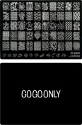 Gogoonly Nail Art Stamp Plate Collection St. Happy - Huge Size Stamping Image Plates Manicure Nail Designs DIY-BH000461