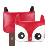 ISASSY Fashion Hot Retro Contrast Colour Little Naughty Owl Fox Bag Messenger PU Leather Crossbody Purse Satchel Handbag Girl Lady Shoulder Bag High Quality