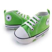 Prewalker Infant Sweet Canvas Sneaker Anti-skid Soft Shoes Trainer Green