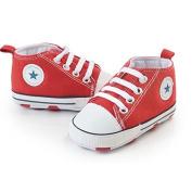 Prewalker Infant Sweet Canvas Sneaker Anti-skid Soft Shoes Trainer Red