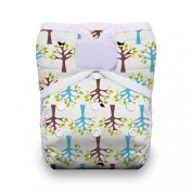 Thirsties One Size Hook and Loop Pocket Nappy, Blackbird