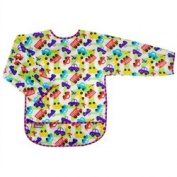 Kushies Taffeta Waterproof Bibs with Sleeves, Traffic, Infant