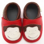 Sayoyo Baby Monkey Soft Sole Leather Infant Toddler Prewalker Shoes