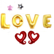 """8 PCS Helium Foil balloons , Party Wedding Supply """"LOVE"""" Type 3"""