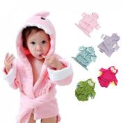 Voberry®New Arrival Cute Designs Hooded Animal modelling Baby Bathrobe/Cartoon Baby Towel kids bath robe/infant bath towels