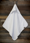 Organic Terry Cotton Baby Hooded Bath Towel/ Receiving & Swaddling Blanket/ SOFT, PURE, HYPOALLERGENIC