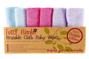 Reusable Washcloth Baby Wipes of Organic Bamboo by Tutti Bimbi - Perfect for Bathing Babies - Soft, Safe and Sustainable - Gentle Cleaning of Sensitive Skin including Eczema - The Baby Registry Gift for Baby Showers - 6 Pack of Large 25cm Cloths - FREE ..