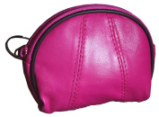 Visnow® Genuine Soft Leather Coin Purse Small Change Purse with Zipper + Key Ring
