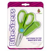 BiteSizers Portable Food Scissors (Green Seeds), Certified Food-safe, Stainless Steel