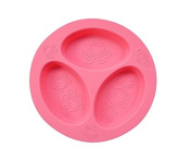 oogaa Silicone Baby and Toddler Divided Plate - Pink