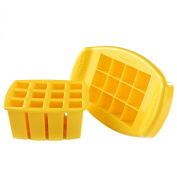 FunBites Squares - Yellow - Cuts kids' food into fun-shaped bite-size pieces . . . Great for picky eaters and bento!