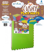 EnviUs Cushy Plus Play Mat Cube 4 : Formamide Free Ultra Thick & Large 4 Pieces (4 Colours) 60cm x 60cm x 1.4cm