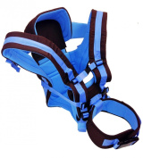 4 Position Baby Carrier for Newborn to Toddler - Sling, Front Facing, Rear Facing, and Backpack with Head Support Shade and Lumbar Waist Belt - Blue - Family First Enterprises