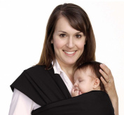 BodyBudd™ Baby Wraps, Infant Baby Carriers Cuddle Your Baby Elegant Black