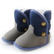 ELee Baby Toddler Boys Girls Anti-Slip Soft Sole PU Coating Plush Lining Snow Boots Prewalker