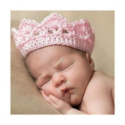Kalevel Cute Newborn Infant Baby Girl Boy Crochet Baby Hats Knit Crown Hat Photograph Props