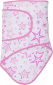 Miracle Blanket Baby Swaddle Blanket, Pink Stars