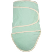 Miracle Blanket Baby Swaddle Blanket, Green with Beige Trim