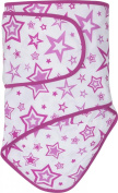 Miracle Blanket Baby Swaddle Blanket, Orchid Stars