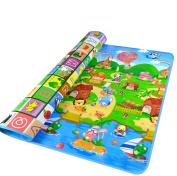 GMS 180*120*0.5cm Thickness on Both Sides Waterproof Baby Crawling Mat Baby Crawling Pad/ Game Mat