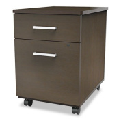 Linea Italia TR752MOC Trento Line Mobile Pedestal File with Box and File Drawer, Mocha