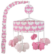 Just Born Safe Sleep Collection Butterfly Pink and White Musical Mobile
