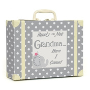 Child to Cherish Polka Dot Going to Grandma's Keepsake, Grey