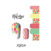 BTArtbox Colourful Candy Colour Diamond Style Nail Art Sticker Special NEW Nail Wraps 1 pc