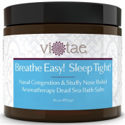 Nasal Congestion & Stuffy Nose Relief So You Can Sleep Aromatherapy Dead Sea Bath Salts - Vi-Tae® 'Breathe Easy! Sleep Tight!'