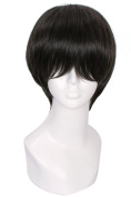 L-email™20cm/9.24inch Short Black Nase Hiroomi Cosplay Wig Cw221