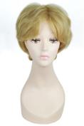 L-email Wig 25cm Short Golden Sailor Moon Tenoh Haruka Cosplay Wig ML198