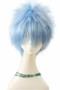 L-email Wig Jack Frost Kuroko No Basuke Short Light Blue Anime Cosplay Rw152