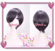 20-25cm Short Slate Blue Kuroshitsuji Cosplay Wig Cw07