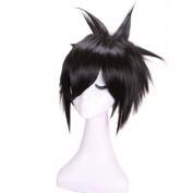 25cm Short Black Death Note Sasuke Uchiha Cosplay Wig Ml07