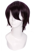 Lemail wig ®25cm Short Black Purple Noragami Yato Cosplay Man Wig Zy83