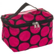 Womens 18cm Large Polka Dot Cosmetic Makeup Bag