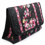 Cosmetic Bag with a Mirror, Cotton Fabric, Large Size